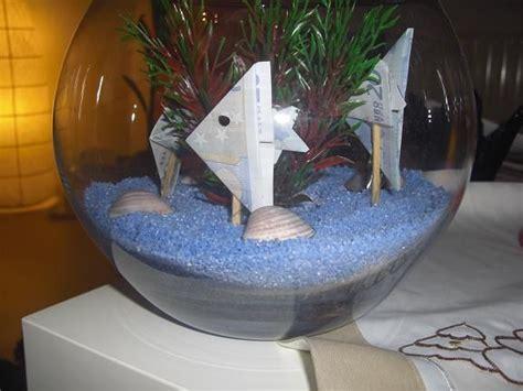 fische kleines aquarium geld aquarium geschenk ideen geldgeschenke hochzeit basteln kleines aquarium geschenke basteln
