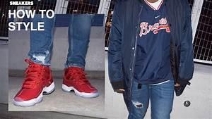 How To Style Gym Red Jordan 11u0026#39;s | Lookbook - YouTube