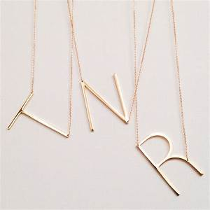 sale large initial necklace oversized letter alphabet With letter necklace a
