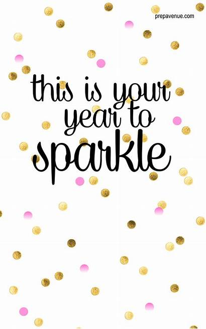 Quotes Years Sparkle Inspirational Happy Words Resolutions