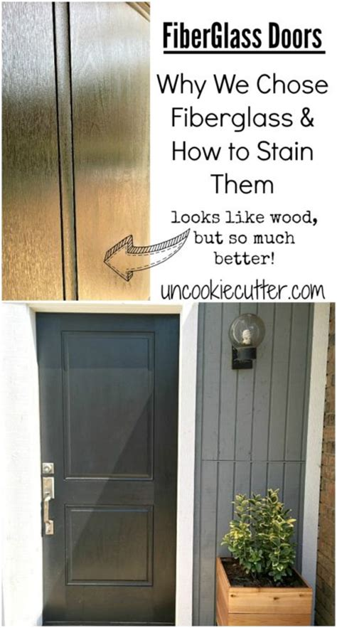 fiberglass doors   picked     stain