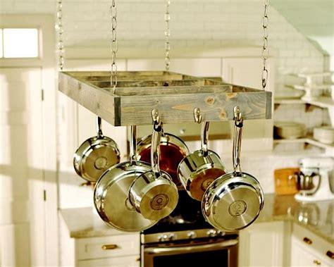 make a hanging l diy workshop build a hanging pot rack