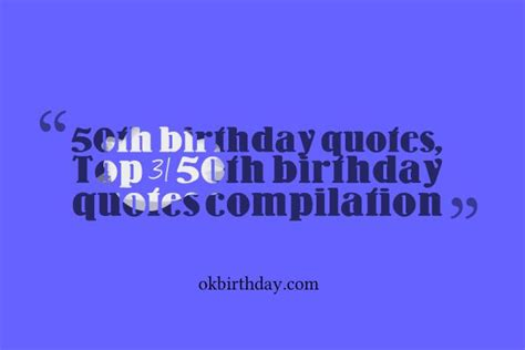 Best 31 50th Birthday Quotes Compilation  Birthday Wishes & Quotes