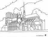 Dame Notre Coloring Cathedral Paris Pages Coloriage France Printable Around Hellokids sketch template
