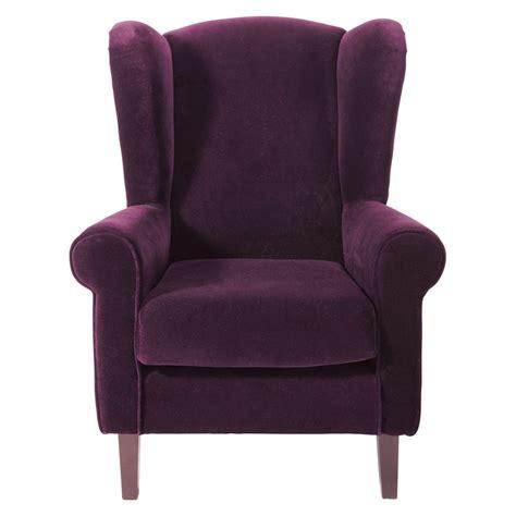 fauteuil enfant en velours violet velvet maisons du monde