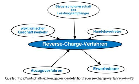 reverse charge verfahren definition im gabler