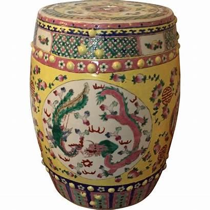 Chinese Garden Porcelain Antique Century Seat Classic