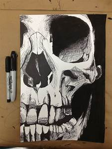 drawing Cool Awesome pencil skull morbid ink Sketch ...