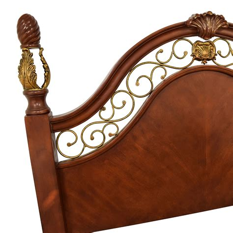 unique ornate wood  metal queen size bed beds