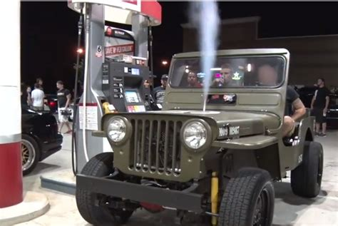 willys jeep lsx video lsx willys antics get more reckless 160 plus on
