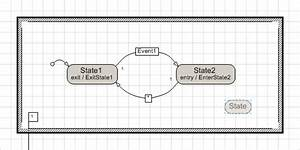 Add A State To A State Diagram And Control Its Generated