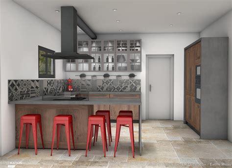 cuisine de style cuisine style bistrot chic er décoration côté maison