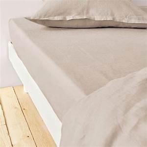 Housse De Matelas 160x200 : achat drap housse 160x200 cm lin m tis beige pas cher ~ Dailycaller-alerts.com Idées de Décoration