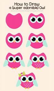 How to Draw an Owl + Free Owl Clipart | Jessica Sawyer Design