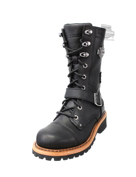 harley boots 87066 harley davidson womens albara black leather high