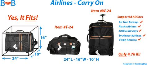 """24"""" Carry on for Selected Airlines"""