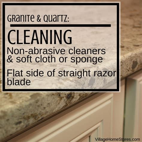 how to care for your granite countertops in your