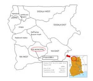 Ghana Upper West Region Map