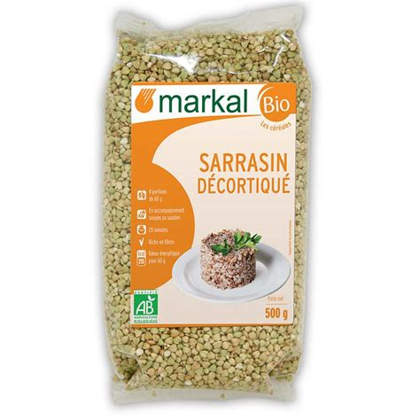 cuisiner les graines de sarrasin sarrasin grillé kasha céréales produit bio markal
