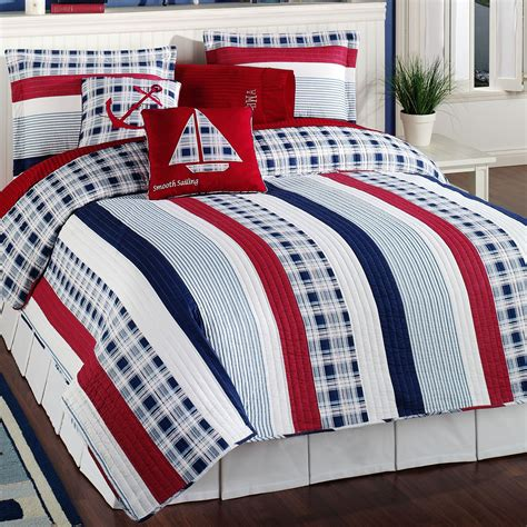 Bedroom Quilt Sets by Nautical Bedding Sets Nautical Stripe Quilt Bedding