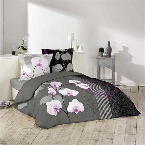 housse de couette 220 housse de couette 240x220 2 personnes 100 coton purity fleurs orchidee