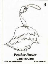 Duster Feather Coloring Pages Template sketch template