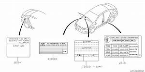2015 Subaru Impreza Wagon Label - Caution
