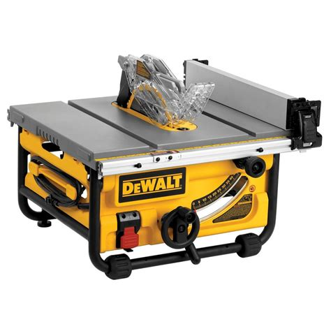toolkraft 10 inch table saw dewalt dw745 10 in 15 amp compact job site table saw with