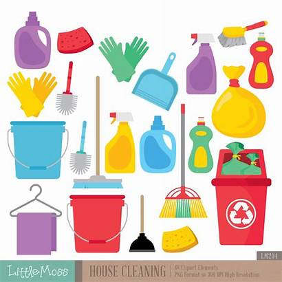Cleaning Clipart Printable Stickers Clip Clean Digital