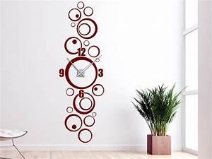 Retro Uhren Wand : wandtattoo uhr retro kreise wanduhr ~ Whattoseeinmadrid.com Haus und Dekorationen