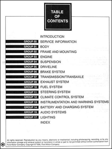 car service manuals pdf 1996 mercury cougar transmission control 1997 ford thunderbird mercury cougar xr7 repair shop manual original