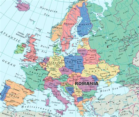 romania located   map