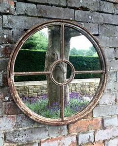 Vintage Rustic Circular Window Mirror vintage-rustic ...  Rustic
