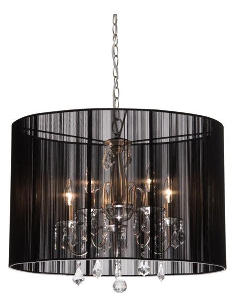chandelier with drum shade artcraft five light polished nickel silk string shade drum