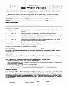 hot work permit template pictures to pin on pinterest With hot works permit template