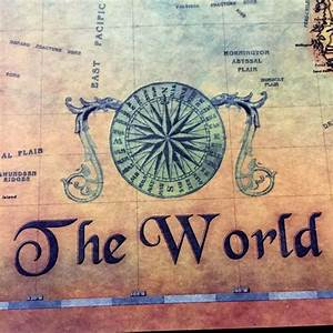 The Best Vintage Nautical World Map Poster is now ON SALE ...