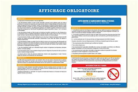 bureau de contr e obligatoire affichage obligatoire code du travail 2016 toutes les