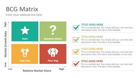 bcg matrix template bcg matrix diagrams slides template slidesalad