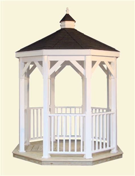 vinyl gazebo kits 8x8 gazebo kits wood or vinyl amish country gazebos 3277