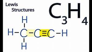 C3h4 Lewis Structure  How To Draw The Lewis Structure For