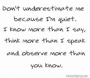 Please don't belittle me because I'm shy. Respect me ...
