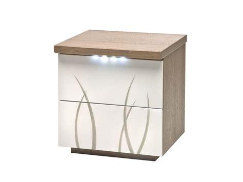 largeur porte chambre table de chevet 2 tiroirs flora laque perle blanc