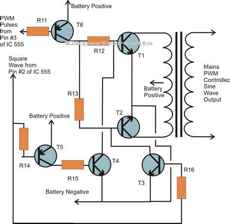sine wave inverter using ic 555 expert circuits