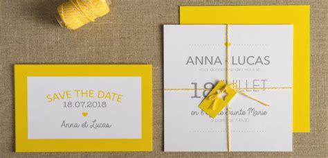 faire part mariage bleu et jaune jaune citron la couleur tendance de mariage de cet 233 t 233