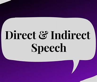 Indirect Speech Direct Words Examples English Said