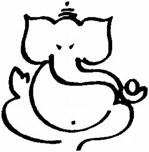Simple Ganesh Outline - ClipArt Best