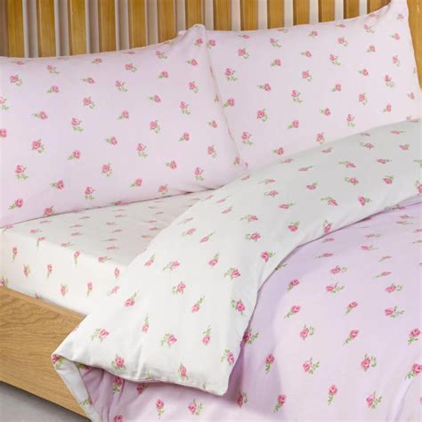 ditsy floral kingsize fitted sheet pink from litecraft
