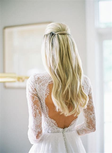 12 pretty half up half down bridal hairstyles weddingsonline