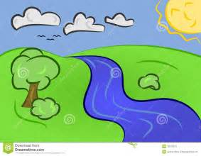 Cartoon River Stream