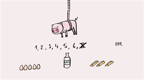 un petit cochon pendu au plafond comptine